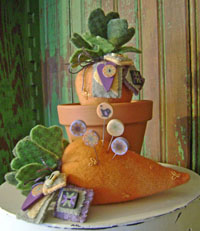Carrot Patch Pincushion Kit
