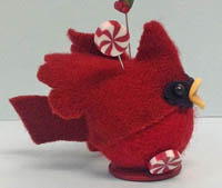 Candy Cardinal Pincushion Kit