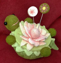 Lazy Turtle Pincushion