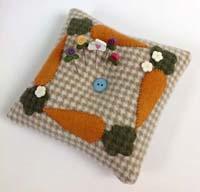 Carrot Tuft Pillow Pincushion