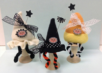 Ghost Pixie Witch Hat Pixie, or Candy Corn Pixie Spoolkeep Kits