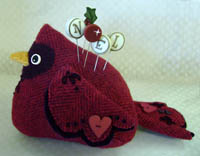Winter Bird Pincushion Kit