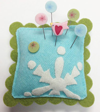 Seasonal Slider Pincushion  - Frost  Kit