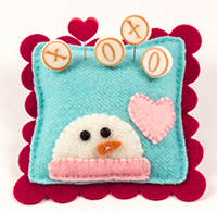 Seasonal Slider Pincushion  - Snow Kisses Kit