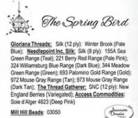 Spring Bird Embellishment Pack, The