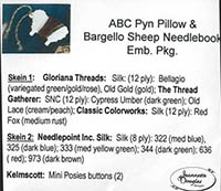 ABC Pyn Roll & Bargello Sheep Needlekeep Embellishment Pack