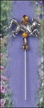 Silver Fox Charm Garden Pin