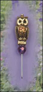 Owl Charm Garden Pin
