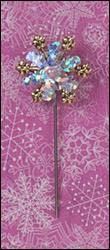 Snowflake Pinwheel Charm Garden Pin