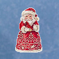 Santa with Cardinal Ornament Kit by Jim Shore