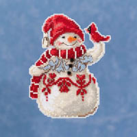 Snowman with Cardinal Ornament Kit by Jim Shore