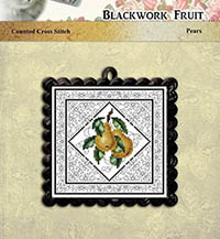 Blackwork Fruit Pears