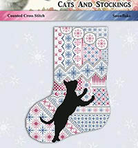 Cats and Stockings #1 - Snowflake
