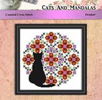 Cats and Mandalas - October