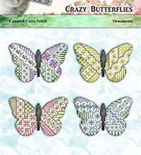 Crazy Butterflies Ornaments