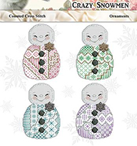 Crazy Snowman Ornaments