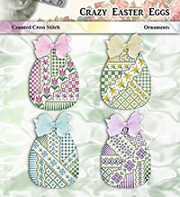 Crazy Easter Eggs Ornaments