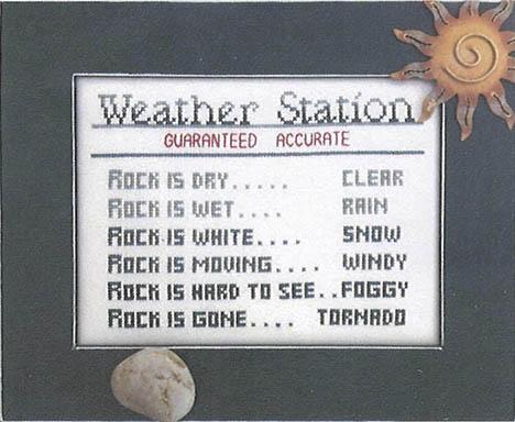 Ye Olde Cross Stitchery - Weather Station w/Frame
