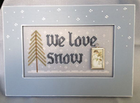 We Love Snow with Frame