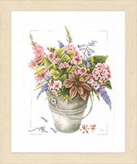 Bouquet of Flowers In Bucket Kit