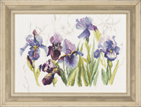 Blue Flowers Iris Kit