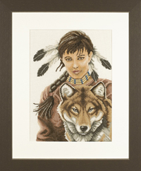 Indian Girl with Wolf Kit