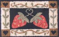 Folk Art Strawberries