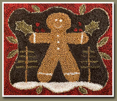 Gingerbread Man Punch Needle