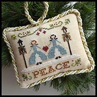 Sampler Tree Ornament #7- Peace