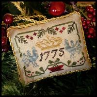 Sampler Tree Ornament #3 - Three Crowns
