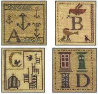 Alphabet Piddlings - ABCD