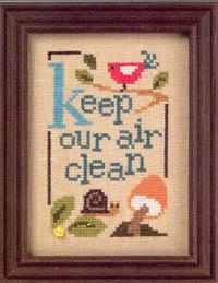 Keep Our Air Clean Green Flip-it