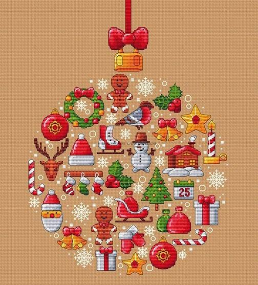 Decoration De Noel Sia.Ye Olde Cross Stitchery Boule De Noel Christmas Ball