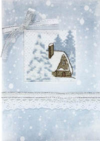 Snow Cabin Card Kit