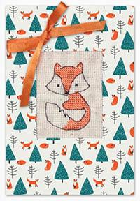 Fox & Christmas Tree Card Kit