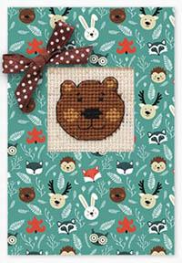 Bear Face Card Kit