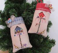 Christmas Birdhouse Ornaments