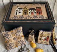 Welcome Street Sewing Box & Pillow
