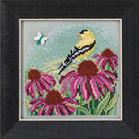 2017 Spring Button & Bead - Gold Finch