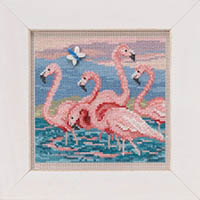 2019 Spring Button & Bead -  Flamingos