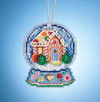 Charmed Snow Globes - Gingerbread House Globe Ornament