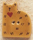 43003 Gold Quilt Cat Debbie Mumm Button