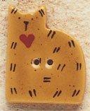43003 Gold Quilt Cat Debbie Mumm Button
