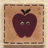 43010 Quilt Square Apple Debbie Mumm Button