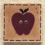 43010 Quilt Square Apple Debbie Mumm Button