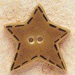 43015 Gold Quilted Stitched Star Debbie Mumm Button