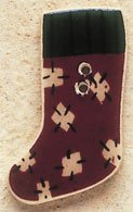 43018 Patch Stocking X-mas Visions Debbie Mumm Button
