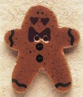 43019 Gingerbread Man w/Bow Tie Debbie Mumm Button