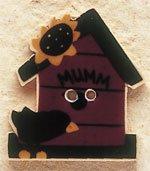 43020 Birdhouse w/Crow & Sunflower Debbie Mumm Button