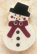 43022 Snowman X-mas Visions Debbie Mumm Button